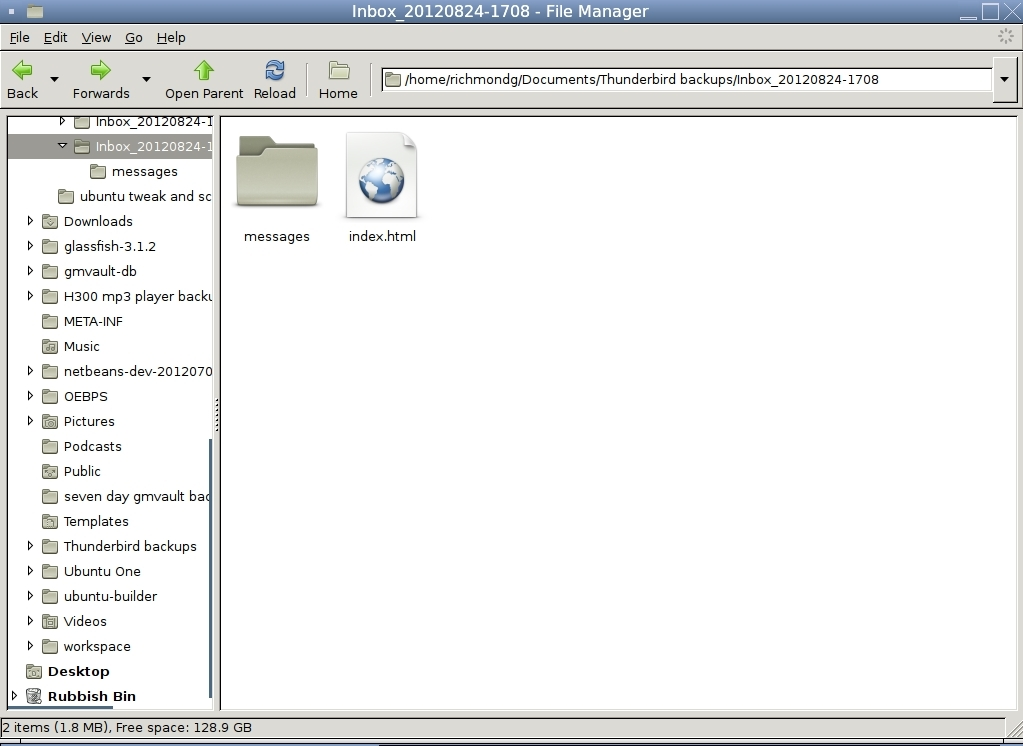 Backup and Read your E-mails offline with Thunderbird's
