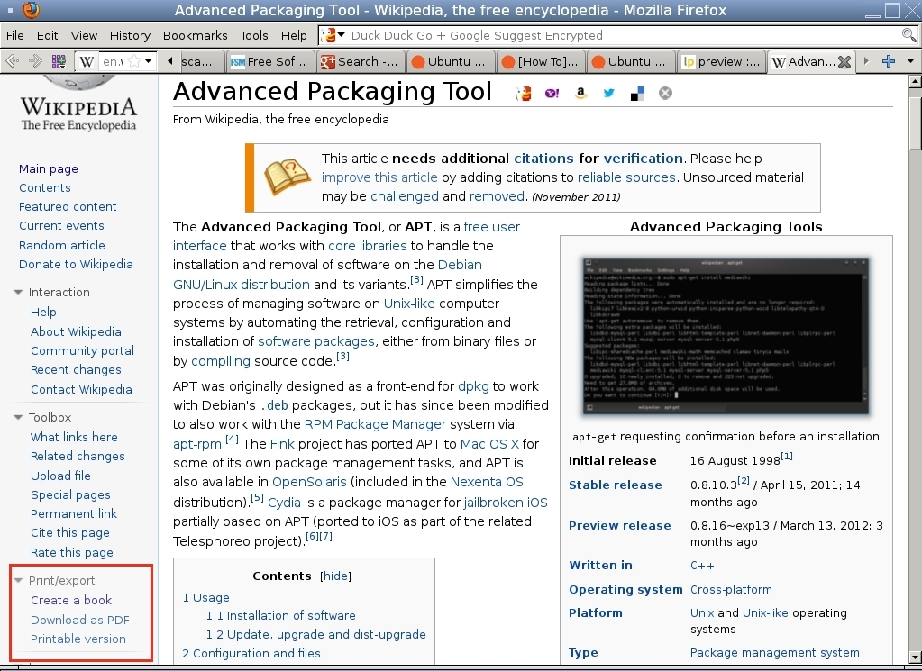 Compile Your Own PDF Books with Wikipedia and Edit them with