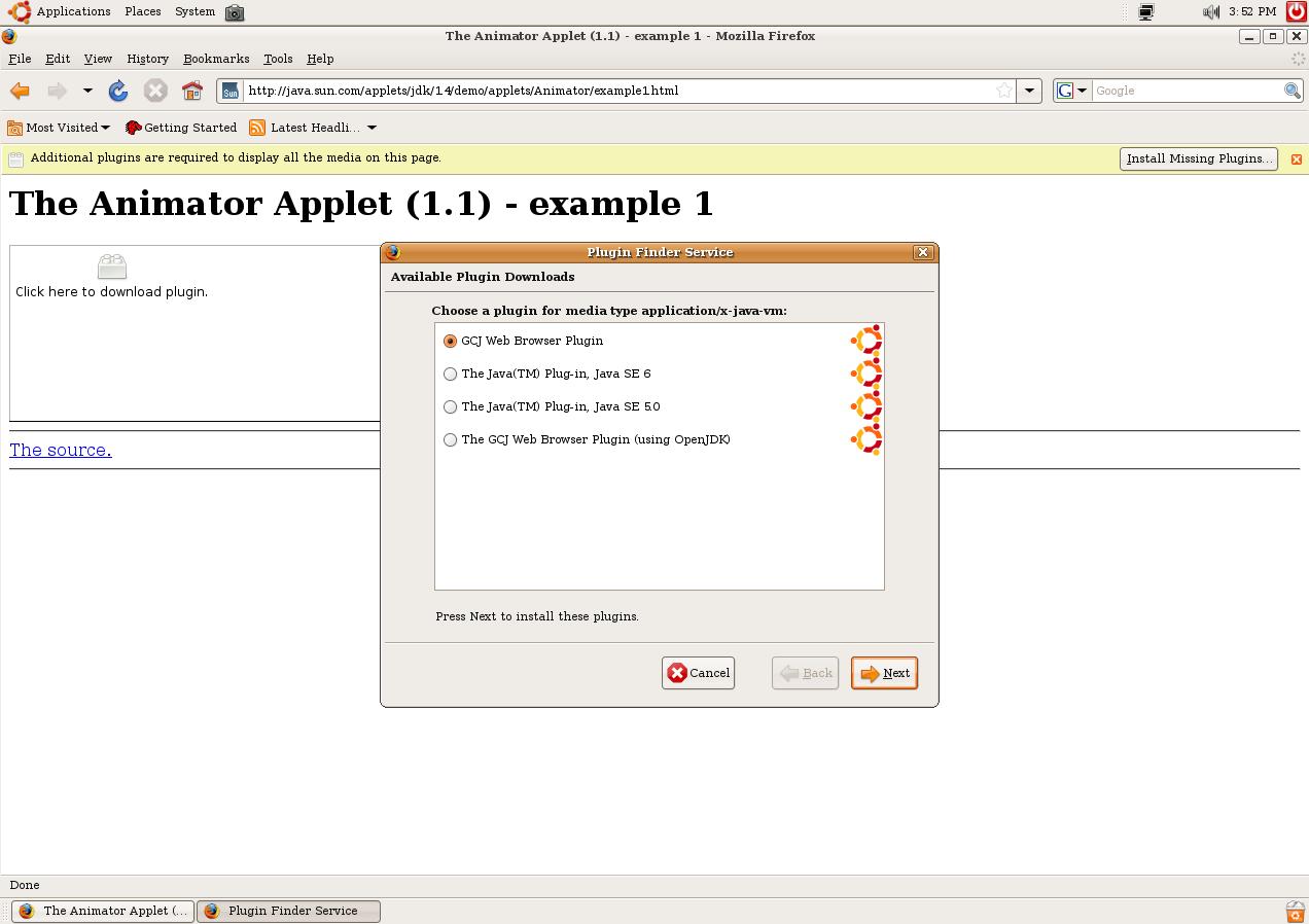 Firefox Java Plugin