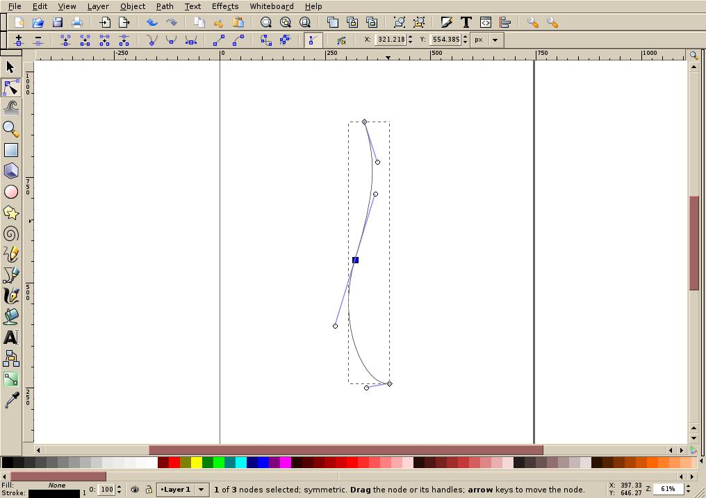 Inkscape tutorial: creating a simple ribbon