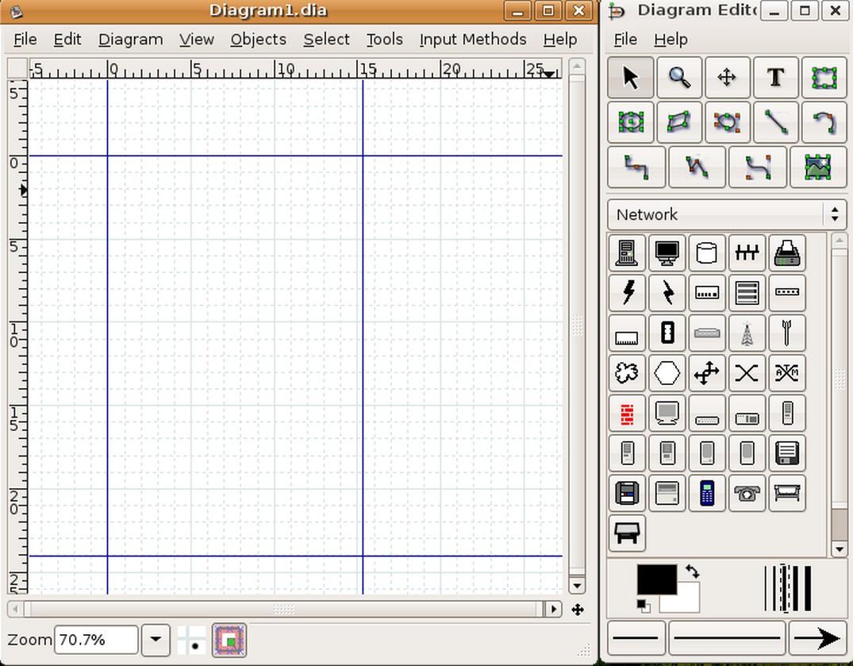 Desktop diagramming with dia and kivio figure 3 dia at start up ccuart Images
