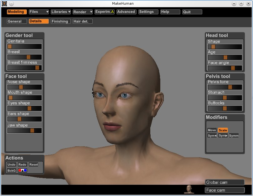 Making realistic characters for Blender with MakeHuman
