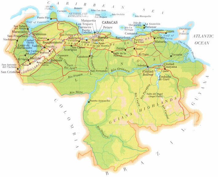 Free Software Liberates Venezuela - Venezuela map