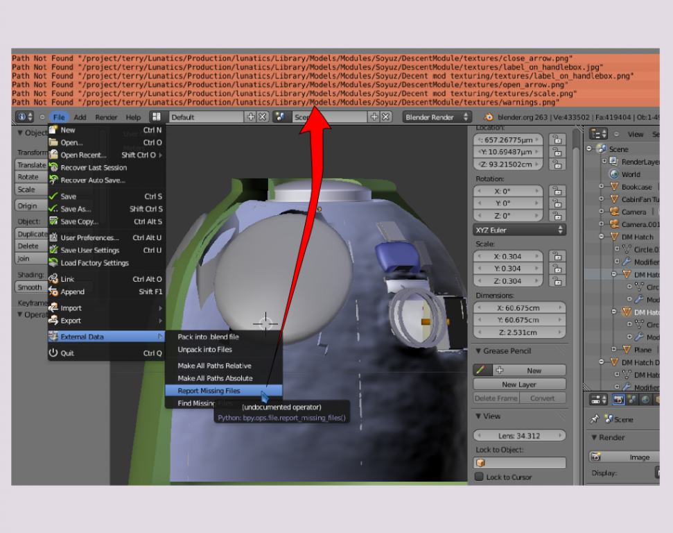 Refactoring in a Multimedia Project with Inkscape, Blender