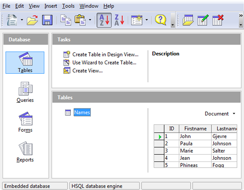 The simplest way to make databases in OpenOffice org